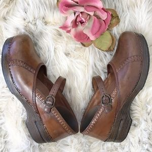Dansko Brown Leather Mary Jane Shoes Size 41